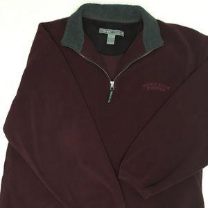 Perry Ellis Burgundy 1/4 zip fleece pullover
